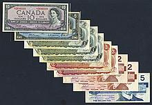 Bank of Canada, 1954, 1973, 1986 Issues.