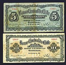 Banco Central de Chile, 1928-29 Issue.