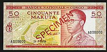 Banque Nationale du Congo. 1967 Issue.