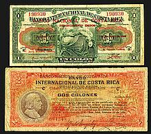 Banco Nacional de Costa Rica Overprint Issues.