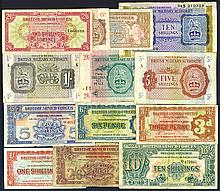 British Armed Forces, ND ( Issue, Group of 13 Issued Notes