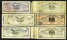 Republica Mexicano; Tesoreria de la Federacion issues. 1914.
