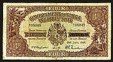 Government of Tonga Treasury Note, 1938 Issue Note.