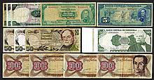 Banco Central Venezuela Banknote Assortment.
