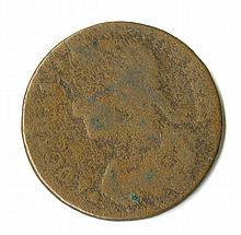 Colonial. Connecticut. Cent. Well worn by identifiable as one.