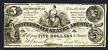 Confederate States. 5 Dollars. 1861.