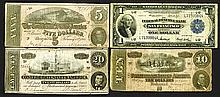 Federal Reserve National Bank and Confederate States Notes.