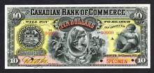 Canadian Bank of Commerce, 1892 Specimen Banknote.