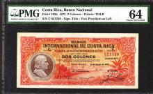 Banco Nacional de Costa Rica. 1938 Overprint Issue.