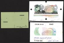 Banco Central De Costa Rica Specimens and Undertint Face Printing Plate