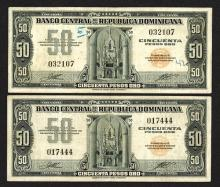 Banco Central de la Republica Dominicana. 1947 ND Issue.