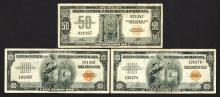 Banco Central de la Republica Dominicana. 1947 & 1956 ND Issue Trio.