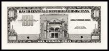 Banco Central De La Republica Dominicana, ND (1962-63) Unlisted Color Trial Proof Rarity.