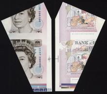 Bank of England, 1990-92 5 Pound Banknote Cutting Error.