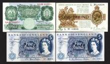 Bank of England and United Kingdom notes.
