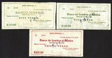 Banco de Londres y Mexico. Counterfeit note group.