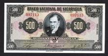 Banco Nacional de Nicaragua. 1945 Issue.