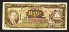 Banco Nacional de Nicaragua. 1954 Issue.