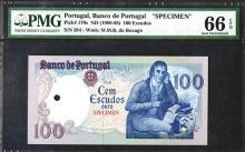 Banco de Portugal. Ch. 8. 1980 ND Issue.
