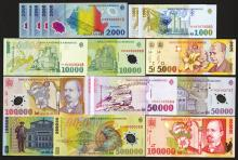 Banca Nationala a Romaniei. 1998-2000 Paper Issues, 1999-2003 Polymer Issue.