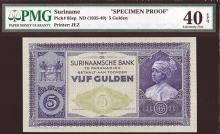 Surinaamsche Bank, ND (1935-40) Specimen Banknote