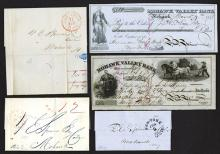 Francis Spinner Group. Stampless covers and checks.
