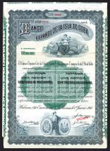 Banco Espanol de la Isla de Cuba Specimen Bond-Share.