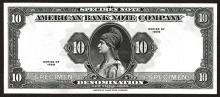 American Bank Note Co. Tyvek Specimen Note, Thin Paper.