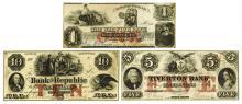 Rhode Island Obsolete Banknote Trio.