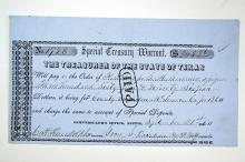 Special Treasury Warrant, 1860.