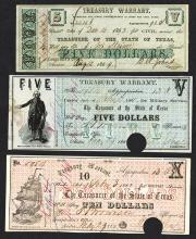 Texas Treasury Warrants. Civil and Military.