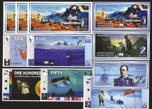 Antarctica Overseas Exchange Office Ltd. 1996, 1999, 2001 Issues.
