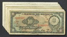 Banco de Mexico. Group of 10 pesos.