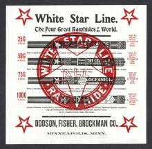 Dodson, Fisher, Brockman Co. White Star Line Rawhide.