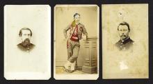 Civil War Era soldiers in Uniform. Group of 3 pieces.