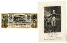 Oakland County Bank, 1843 Obsolete Banknote.