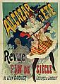 Jules Chéret Paris, 1836 - Nice, 1924 Alcazar d'été, Revue fin de siècle de Léon Garnier, 1890 Lithographie en couleurs, doublée sur..