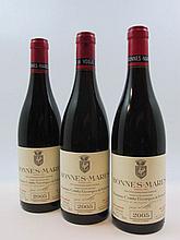 3 bouteilles BONNES MARES 2005 Grand Cru