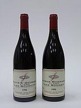12 bouteilles 4 bts : VOSNE ROMANEE 1996 1er Cru Les Rouges. Jean Grivot