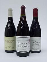 12 bouteilles 5 bts : VOLNAY 2002 1er Cru Champans. Domaine Marquis d'Angerville