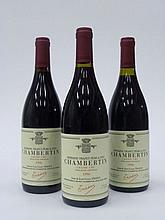 6 bouteilles CHAMBERTIN 1996 Grand Cru