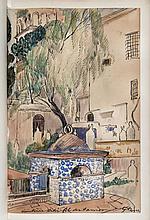 [Gustave ASSIRE] Gustave GUILLAUMET  TABLEAUX ALGERIENS. 5 AQUARELLES DE GUSTAVE ASSIRE