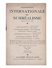 [André BRETON, Paul ELUARD, Marcel DUCHAMP, DALI, MAN RAY etc.]  EXPOSITION INTERNATIONALE DU SURRÉALISME
