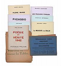 André BRETON, PICASSO, Paul ELUARD etc.  ÉDITIONS DE LA MAIN À PLUME