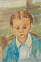 Isaac DOBRINSKY (Makaroff, Ukraine, 1891- Paris, 1973) FILLETTE BLONDE, 1948 Huile sur toile