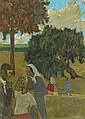 Grégoire MICHONZE (Kichinev 1902 - Paris 1982) LE LANDAU Huile sur toile