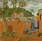 Grégoire MICHONZE (Kichinev 1902 - Paris 1982) SCENE CHAMPETRE, 1951 Huile sur panneau