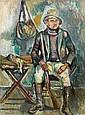 Pinchus KREMEGNE (Zaloudock, Biélorussie, 1890- Céret, 1981) LE CHASSEUR, 1928 Huile sur toile