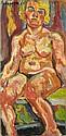 Pinchus KREMEGNE (Zaloudock, Biélorussie, 1890- Céret, 1981) NU ROUGE,1920 Huile sur toile