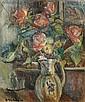 Pinchus KREMEGNE (Zaloudock, Biélorussie, 1890- Céret, 1981) FLEURS, CIRCA 1930 Huile sur toile